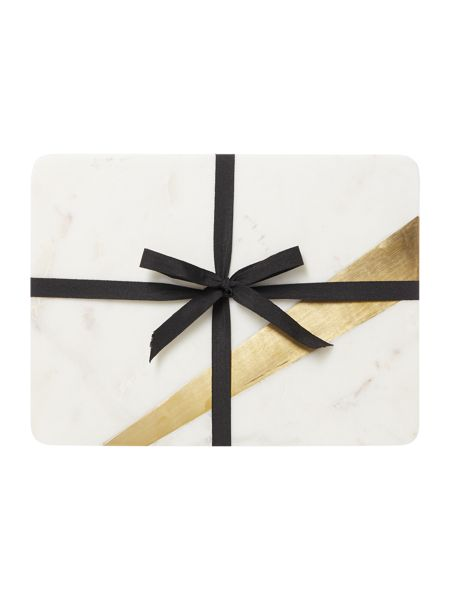 Casa Couture Set of 2 marble placemats with gold edging
