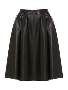 Sportmax Code Rebecca PU pleated skirt