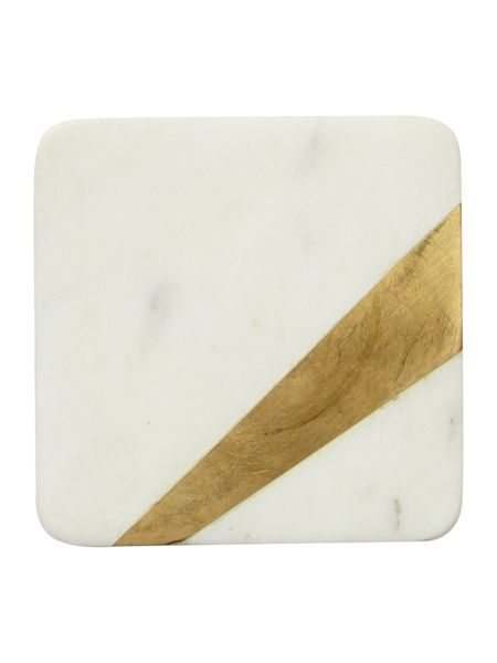 Casa Couture Set of 4 marble coasters with gold edge