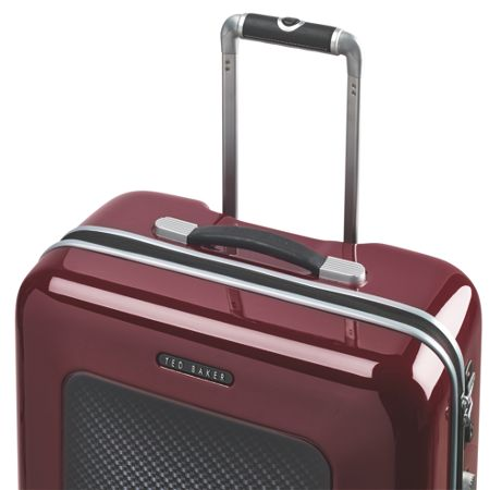 Ted Baker Herringbone burgundy 8 wheel large suitcase