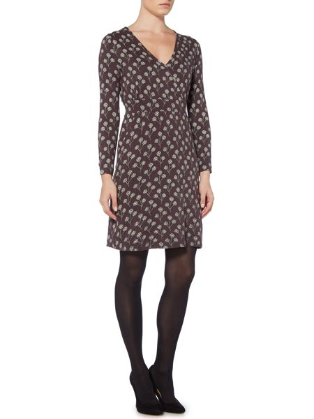 Brakeburn Floral Long Sleeve Wrap Dress