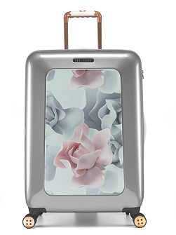 Porcelain rose 8 wheel hard medium suitcase