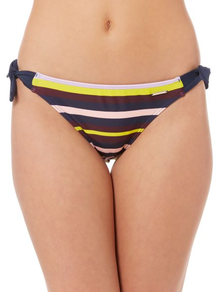 Ted Baker Modise stripe tie side bikini pant