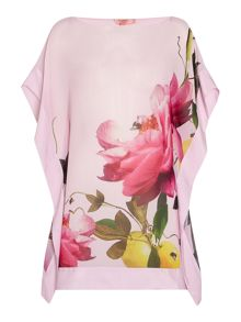 Ted Baker Cammira floral placement print cover up