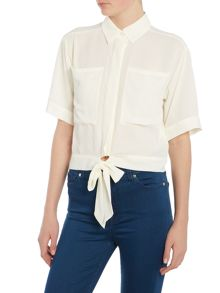 Girls on Film Chloe Lewis Tie Front Crop Top