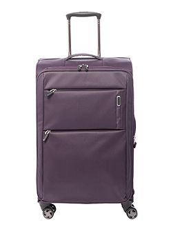 Spacelite II purple 8 wheel soft medium suitcase