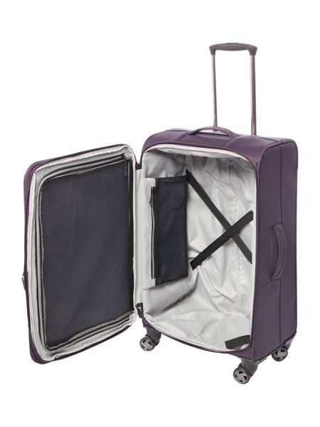 Linea Spacelite II purple 8 wheel soft medium suitcase