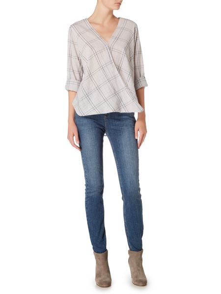 Maison De Nimes Check Wrap Blouse