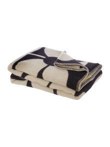 Orla Kiely Sixties Stem Black Throw