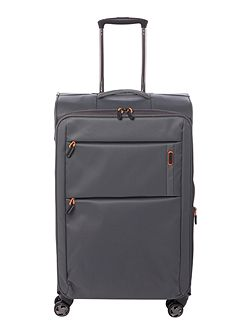 Spacelite II grey 8 wheel soft medium suitcase
