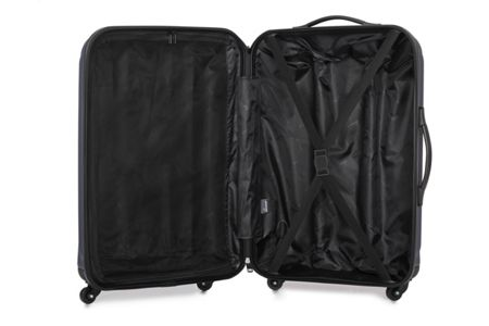 Linea Odel navy 4 wheel hard medium suitcase