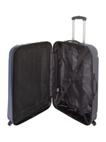 Linea Odel navy 4 wheel hard large suitcase