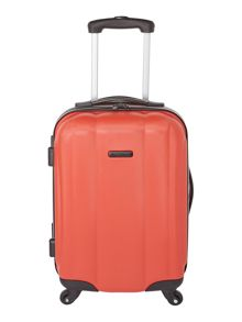 Linea Odel red 4 wheel hard cabin suitcase