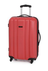 Linea Odel red 4 wheel hard medium suitcase