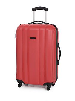 Odel red 4 wheel hard medium suitcase