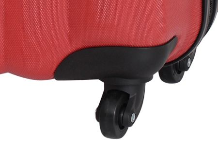 Linea Odel red 4 wheel hard large suitcase
