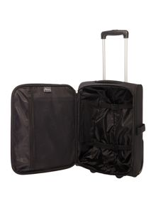 Linea Casablanca black 2 wheel soft cabin suitcase