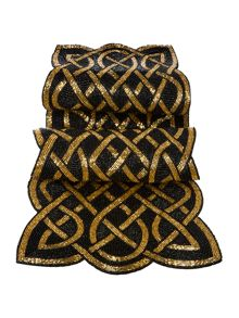 Biba Black and gold beaded runner