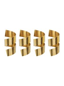 Linea Gold napkin rings set of 4