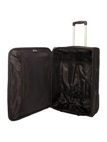 Linea Casablanca black 2 wheel soft medium suitcase