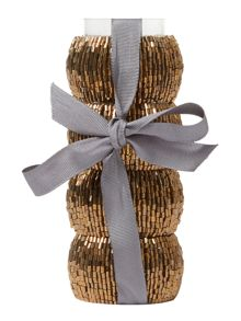 Linea Gold halo napkin rings set 4