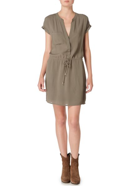 Maison De Nimes Solid Shirt Dress