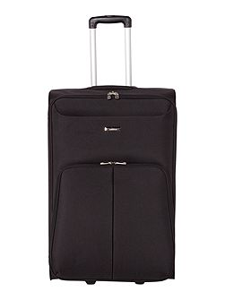 Casablanca black 2 wheel soft large suitcase