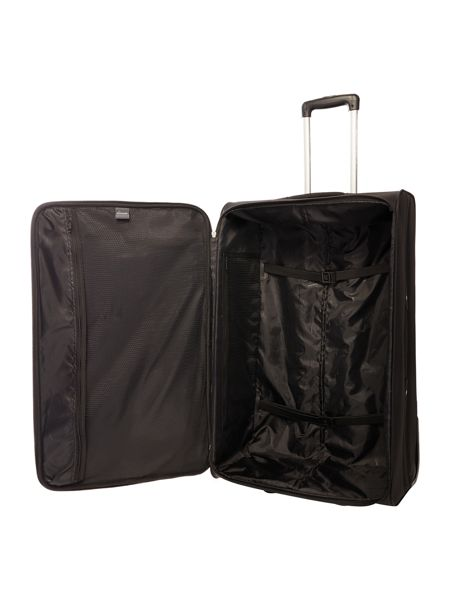 Linea Casablanca black 2 wheel soft large suitcase
