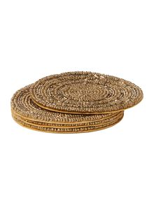Linea Gold halo coasters set of 4