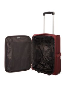 Linea Casablanca burgundy 2 wheel soft cabin suitcase