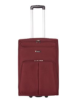 Casablanca burgundy 2 wheel soft medium suitcase