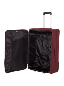 Linea Casablanca burgundy 2 wheel soft large suitcase
