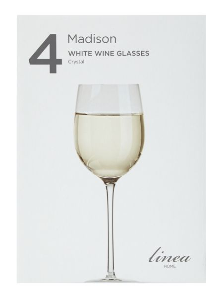 Linea Madison white wine crystal glasses set of 4