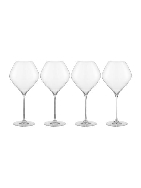 Linea Hannah crystal burgundy glasses set of 4