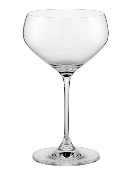 Linea Hannah crystal champagne saucers set of 4