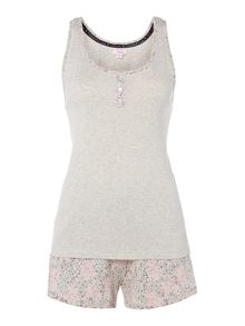 Therapy Ditsy Floral Short Vest Set