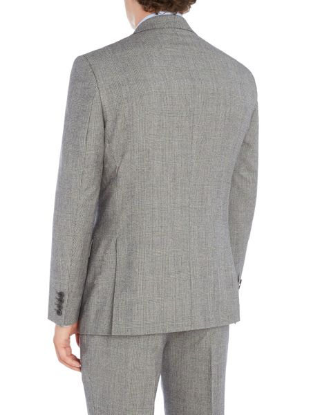 New & Lingwood Heywood SB2 notch lapel check suit jacket