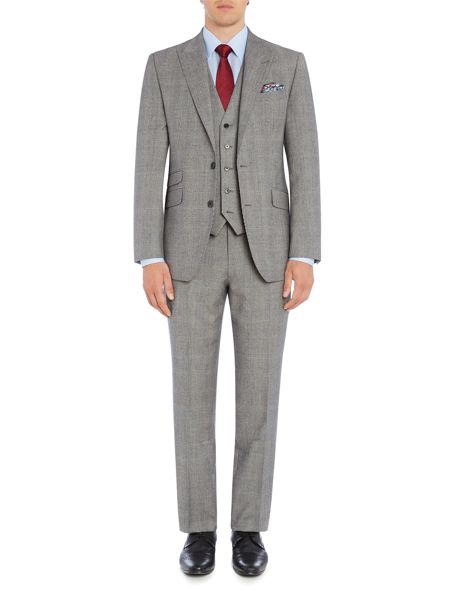 New & Lingwood Heywood Check Suit Trouser