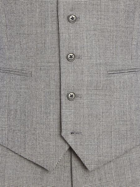 New & Lingwood Heywood Prince of wales check suit waistcoat