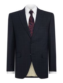 Corsivo Marciano SB2 check suit jacket with peak lapel