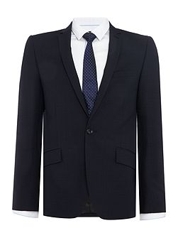Devan slim fit tonal check suit jacket