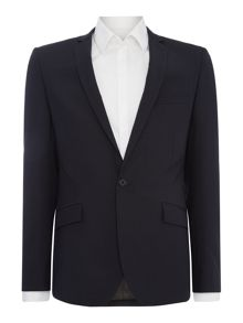 Kenneth Cole Devan slim fit tonal check suit jacket