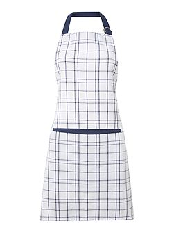 Simple check apron