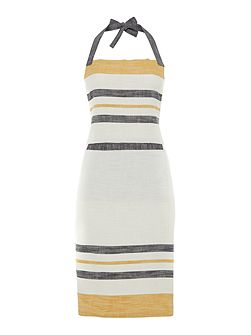 Yellow stripe apron