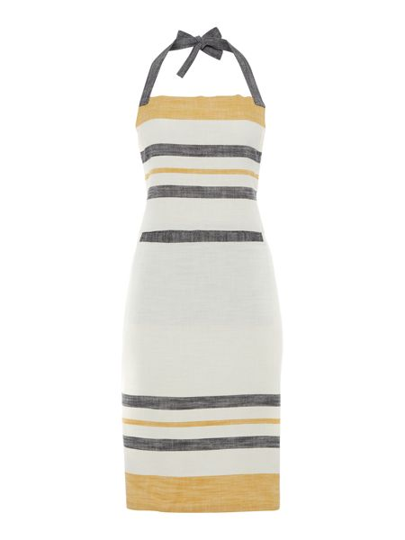 Gray & Willow Yellow stripe apron