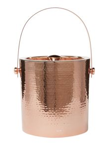 Casa Couture Copper ice bucket with tongs