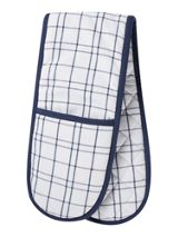Linea Simple check double oven glove