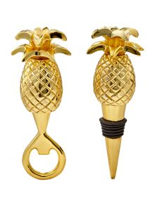 Living by Christiane Lemieux Pineapple bottle opener and stopper