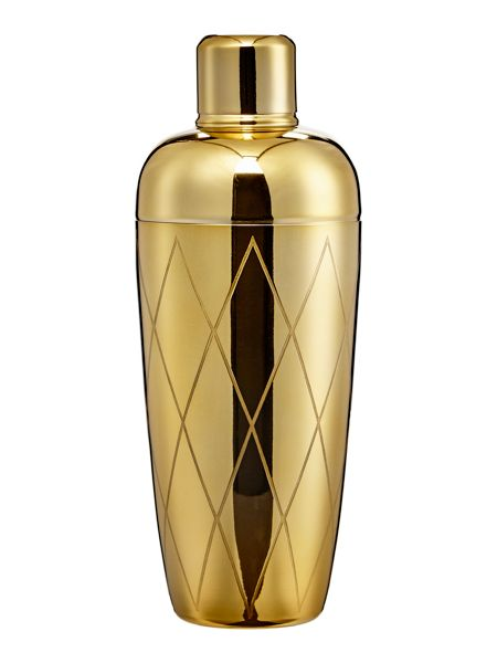 Living by Christiane Lemieux Gold shaped cocktail shaker