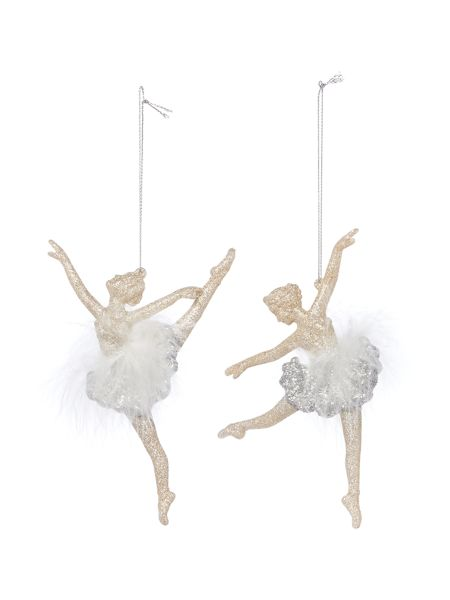 Linea Set of 2 Ballet Dancers with Feathers